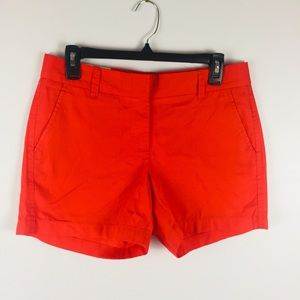 NWT J. Crew Factory Chino Red Shorts Sz 4